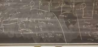 Education - Formulas on a blackboard.