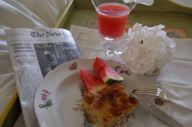 Mother's Day Breakfast Casserole & Cranberry Mimosa