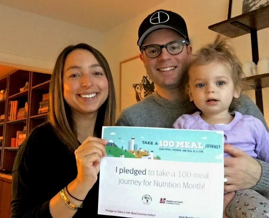 The Etherington family with their Nutrition Month pledge.