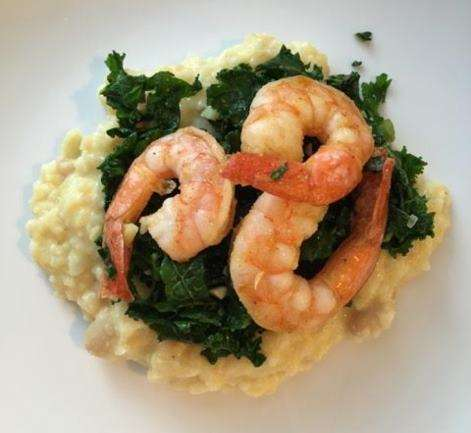 Nutrition Month Featured Recipe: Shrimp and Kale over Cauliflower Mash