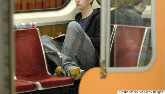 teen on subway - rude behaviour