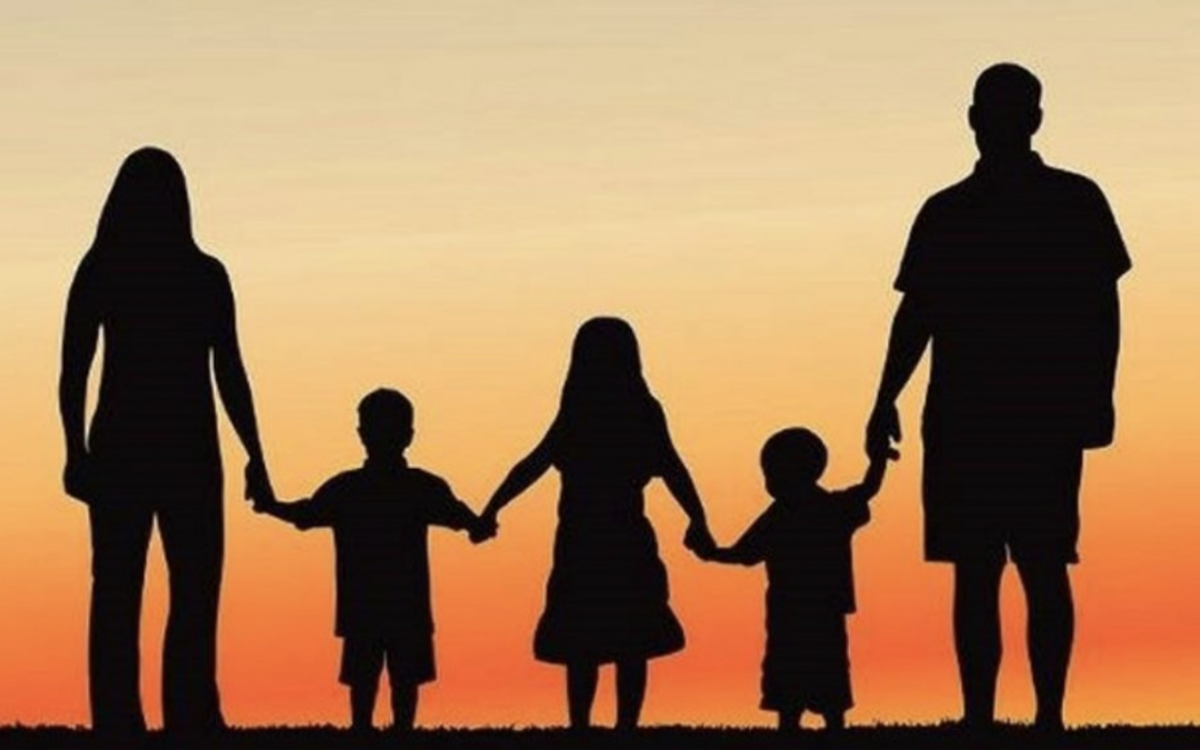 Silhouette of family holding hands - money well spent