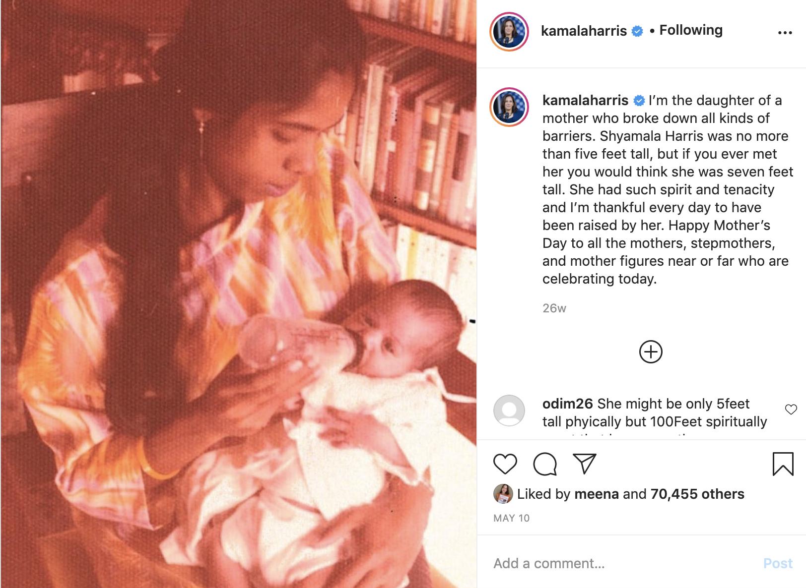 Kamala Harris Instagram Post