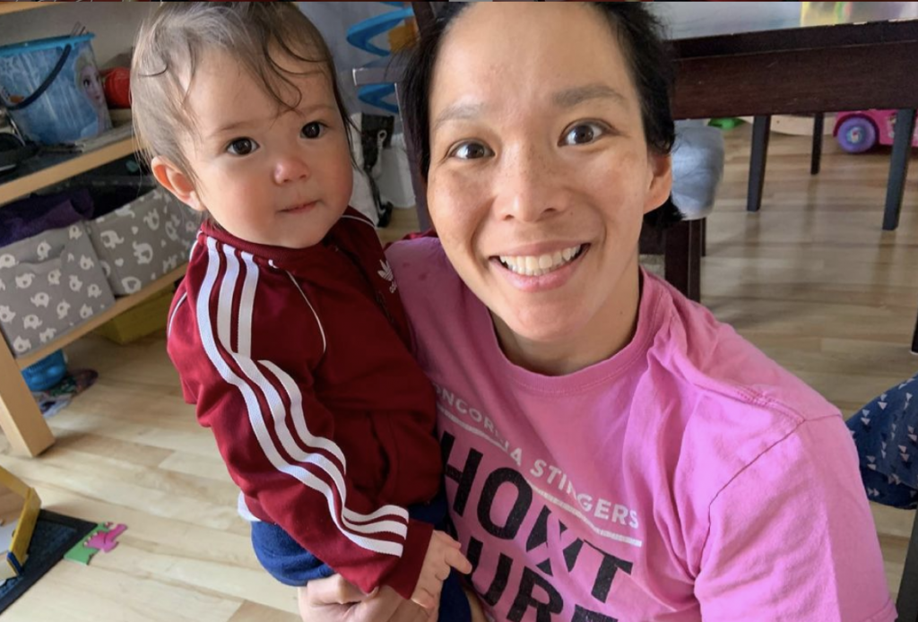 Julie Chu & child