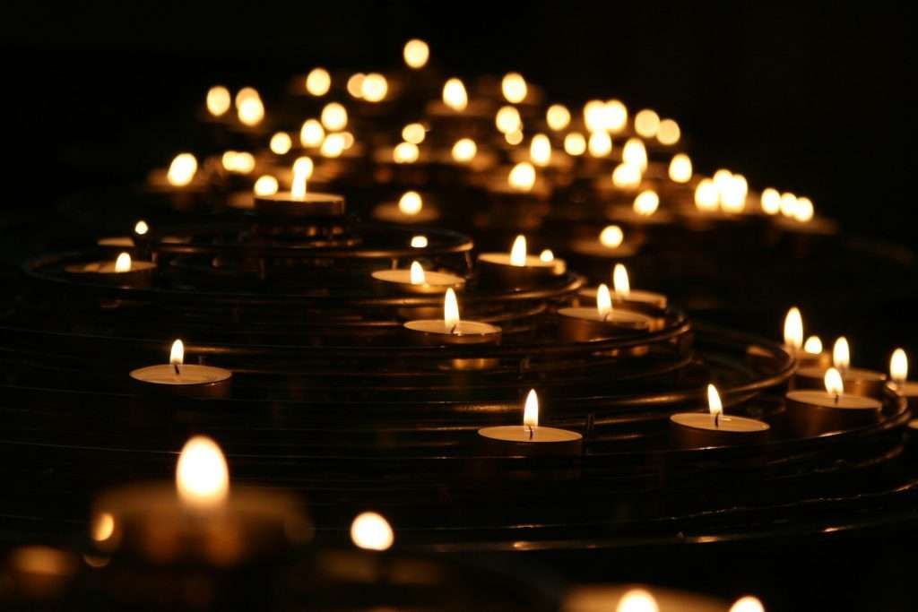 floating candles - grief and loss