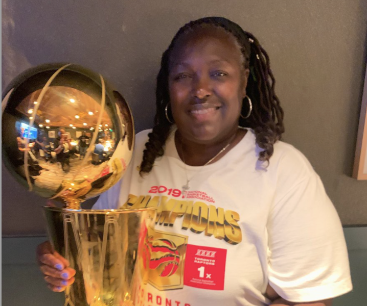 Marie Hollaway, mother of Toronto Raptors guard and NBA champion Kyle Lowry