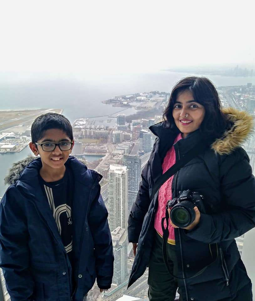 Durba Mukherjee and her son Arka